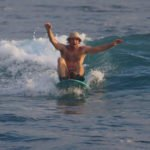 Harry showed us his inner longboarder during a fun session on the Aganoa longboarding wave 3