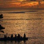 9.kids enjoying a sunset kayak